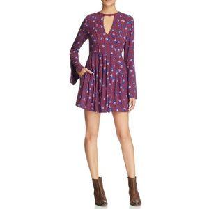 Free People Tegan Floral Print Mini Dress Size 2
